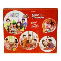 LOTTE CHOCO PIE 12 PCS 300 GM BOX