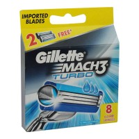 GILLETTE MACH3 TURBO 8 CARTRIDGES PACK 1.00 NO PACKET