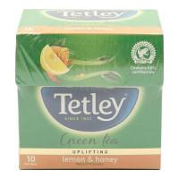TETLEY GREEN TEA WITH LEMON & HONEY 10 TEA BAGS