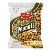 JABSONS ROASTED PEANUTS CHILLY GARLIC 140 GM PACKET