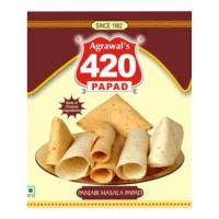 AGRAWAL 420 PUNJABI MASALA PAPAD 400.00 GM PACKET