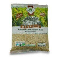 24 MANTRA ORGANIC SONAMASURI BROWN RICE 1.00 KG PACKET