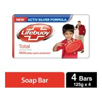 LIFEBUOY TOTAL SOAP 4 X 125.00 GM BAR