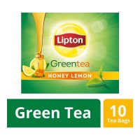 LIPTON GREEN TEA HONEY LEMON 10 TEA BAGS 1.00 NO BOX