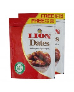 LION SEEDED DATES 500.00 GM PACKET
