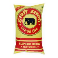 HATHI MUSTARD OIL 1.00 LTR PACKET