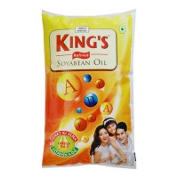 KINGS SOYABEAN OIL 1.00 LTR PACKET