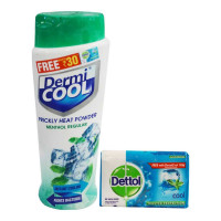 DERMI COOL REGULAR MENTHOL PRICKLY HEAT POWDER 150.00 GM BOTTLE