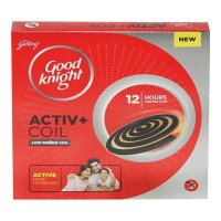 GOOD KNIGHT ACTIVE+ LOW SMOKE COIL 10.00 PCS BOX