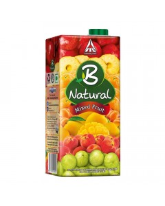 B NATURAL MIXED FRUIT JUICE 1.00 LTR TETRAPACK