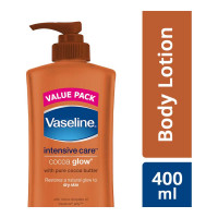 VASELINE INTENSIVE CARE COCOA GLOW LOTION 400.00 ML BOTTLE