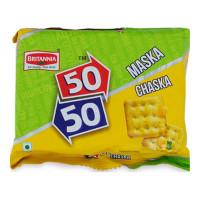 BRITANNIA 50- 50 MASKA CHASKA BISCUITS 120.00 GM PACKET