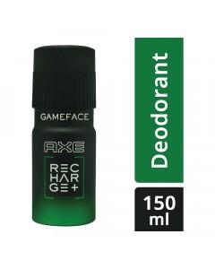 AXE RECHARGE+ GAMEFACE DEODORANT 150.00 ML BOTTLE