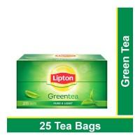 LIPTON GREEN TEA PURE AND LIGHT 25 TEA BAGS 1.00 NO BOX
