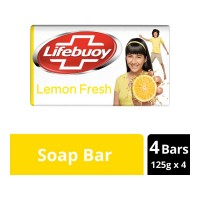 LIFEBUOY LEMON FRESH SOAP 4X 125.00 GM BAR