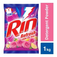 RIN REFRESH LEMON & ROSE DETERGENT POWDER 1.00 KG PACKET