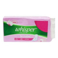 WHISPER ULTRA SOFT XL+ WINGS 30.00 PADS PACKET