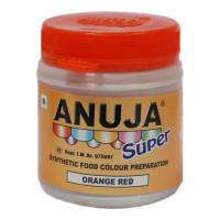 ANUJA ORANGE RED FOOD COLOUR 50 GM