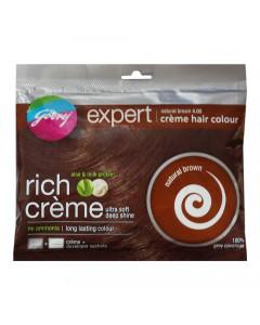 GODREJ EXPERT NATURAL BROWN 4 CREME HAIR COLOUR 20ML+ 20.00 GM SACHET