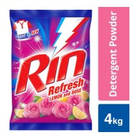 RIN REFRESH LEMON & ROSE DETERGENT POWDER 4.00 KG PACKET