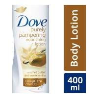 DOVE PURELY PAMPERING LOTION WITH SHEA BUTTER 400.00 ML BOTTLE