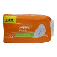 WHISPER CHOICE WINGS 20.00 PADS PACKET