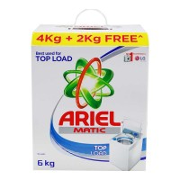 ARIEL MATIC TOP LOAD DETERGENT POWDER 6.00 KG BOX