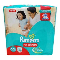 PAMPERS BABY DRY PANTS XXL 15-25 KG 22 DAIPERS 1.00 NO PACKET