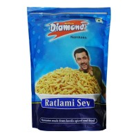 ONDOOR YELLOW DIAMOND RATLAMI SEV 320 GM BUY 1 GET 1 FREE 1.00 NO PACKET