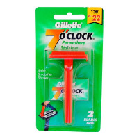 GILLETTE 7 O CLOCK PERMASHARP STAINLESS RAZOR 1.00 NO