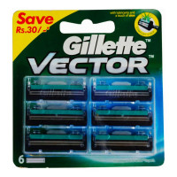 GILLETTE VECTOR 6 CARTRIDGES PACK 1.00 NO PACKET