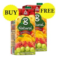 B NATURAL MIXED FRUIT JUICE 1 LTR BUY 1 GET 1 FREE