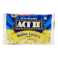 ACT II BUTTER LOVERS MICROWAVE POPCORN 33 Gm