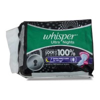 WHISPER ULTRA NIGHTS XL WINGS 7.00 PADS PACKET