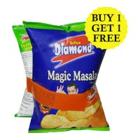 YELLOW DIAMOND POTATO CHIPS COMBO (MAGIC MASALA & CREAM ONION) 170 GM