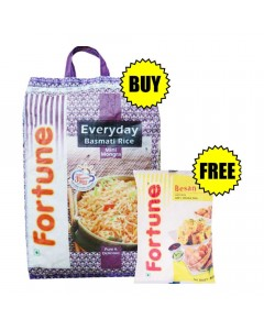 ONDOOR FORTUNE MINI MOGRA BASMATI RICE 10 KG + BESAN 500 GM COMBO