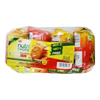BRITANNIA NUTRI CHOICE DIGESTIVE HI-FIBRE BISCUITS 4X75 GM