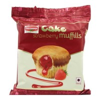 BRITANNIA STRAWBERRY MUFFILLS CAKE 35.00 GM PACKET
