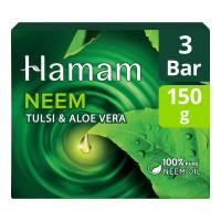 HAMAM NEEM TULSI & ALOE VERA SOAP 3X 150.00 GM BOX
