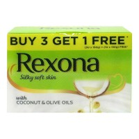 REXONA SILKY SOFT SKIN WITH COCONUT SOAP 4X 150 GM BOX