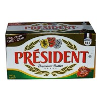PRESIDENT PREMIUM BUTTER SALTED 500.00 GM BOX