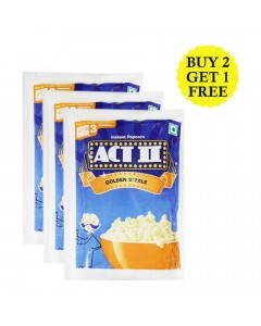 ACT II GOLDEN SIZZLE INSTANT POPCORN 70 GM BUY 2 GET 1 FREE