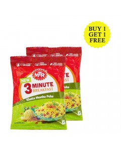 MTR 3 MINUTES KHATTA MEETHA POHA 60 GM BUY 1 GET 1 FREE