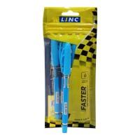 LINC FASTER BLUE BALL PEN 5.00 PCS PACKET