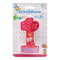 1 NUMBER BIRTHDAY CANDLE 1.00 NO PACKET
