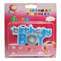 BIRTHDAY CANDLE FOR BOY 1.00 PCS PACKET
