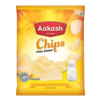 AAKASH NAMKEEN PLAIN SALTED POTATO CHIPS 60.00 GM PACKET