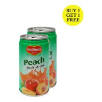 DEL MONTE PEACH FRUIT DRINK 180 ML BUY 1 GET 1 FREE