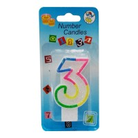 3 NUMBER BIRTHDAY CANDLE