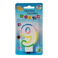9 NUMBER BIRTHDAY CANDLE